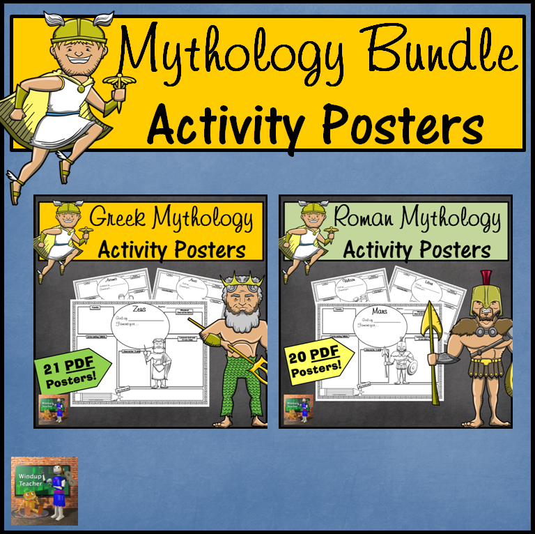 Greek and Roman Mythology Activity Sheet BUNDLE
