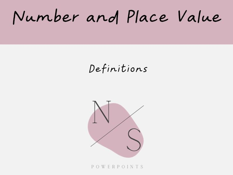 Number and Place Value | Definitions