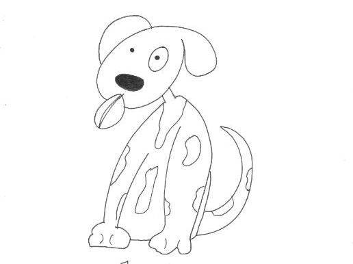 Dog (1): Animals and Pets: Colouring Page