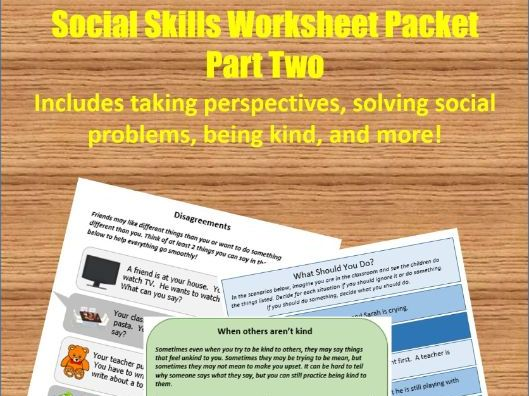 Social Skills Worksheet Packet - Part 2