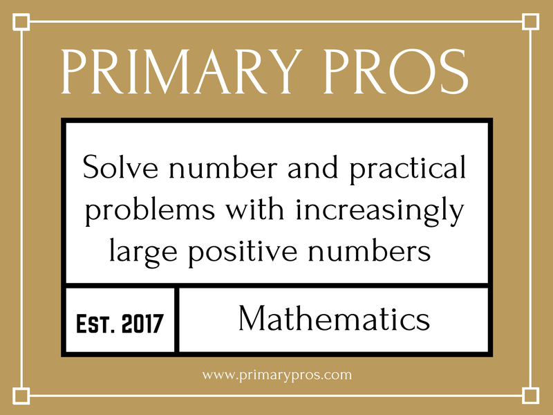 Solve number and practical problems with increasingly large positive numbers