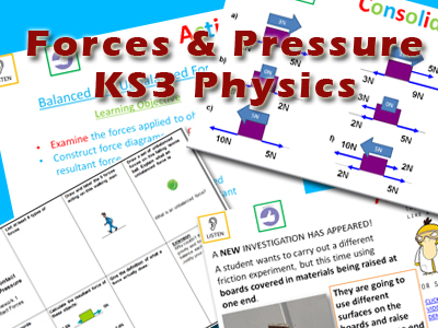 Forces and Pressure KS3 Physics Topic - Complete SoW
