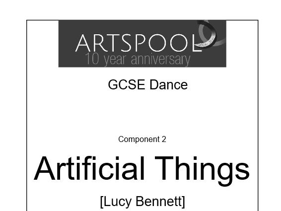 Artificial Things Student Workbooks: GCSE Dance