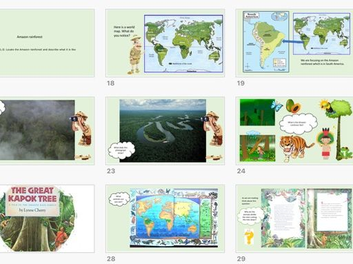 KS1 Geography unit Continents and The Great Kapok Tree Lynne Cherry