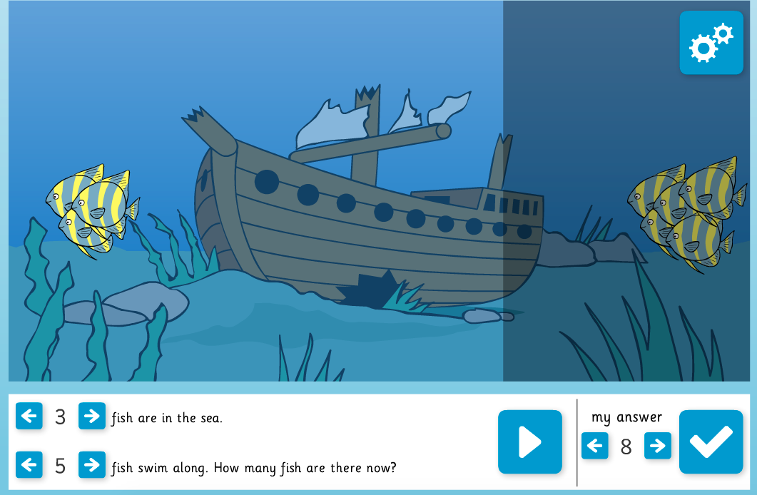 Addition Stories Interactive Activity - KS1 Number