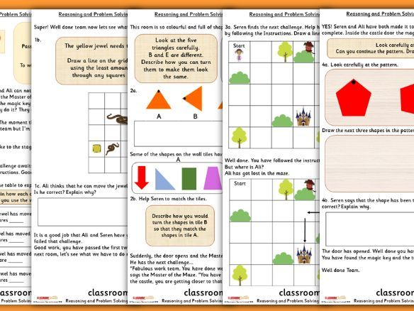 Position and Direction Consolidation Year 2 Summer Block 1 Reasoning and Problem Solving