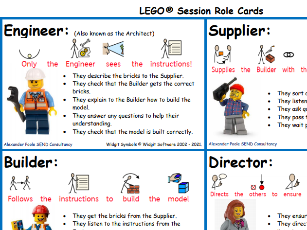 LEGO® Session Role Cards