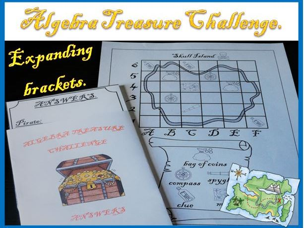 Algebra Treasure Challenge - Expanding Brackets.