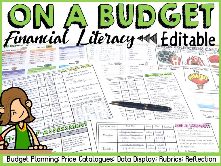 BUDGETING FINANCIAL PLANNING AND GRAPHING: FINANCIAL LITERACY