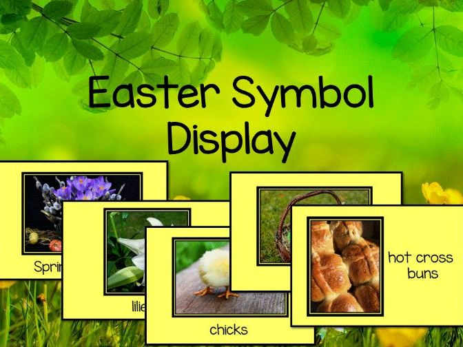 Easter symbols display -RE: Christianity