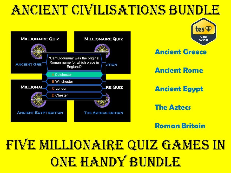 Ancient Civilisations Millionaire Quiz Bundle