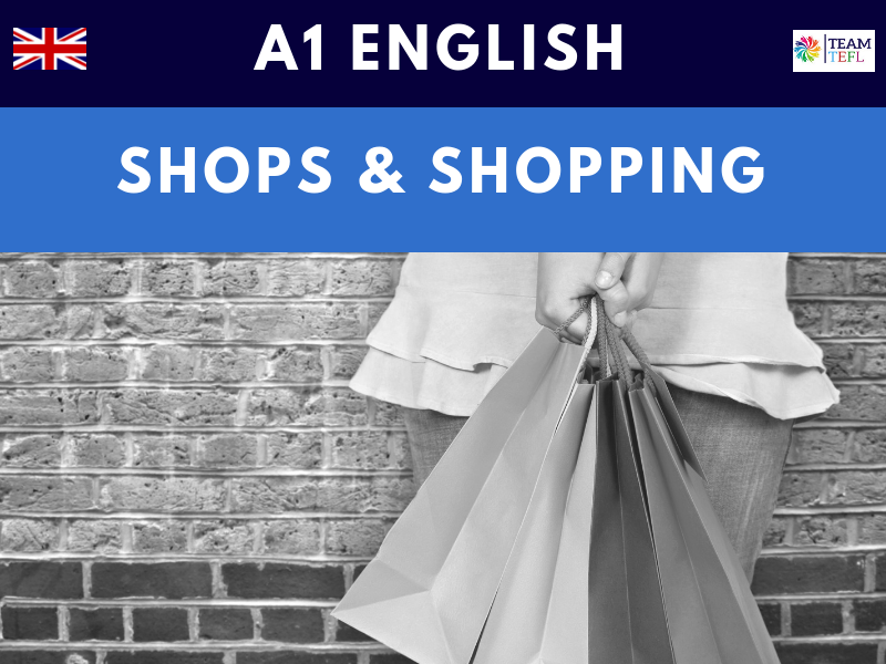 Shops & Shopping A1 Beginner ESL Lesson Plan