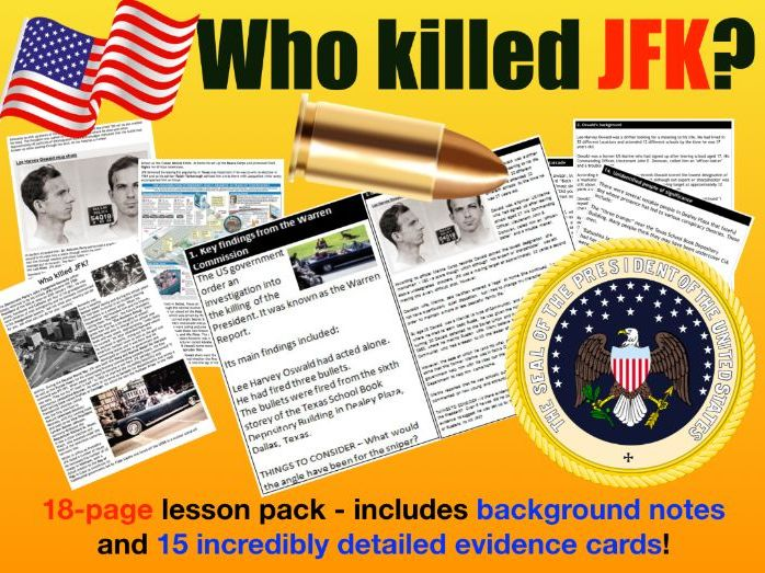 JFK Assassination - 18 page lesson pack