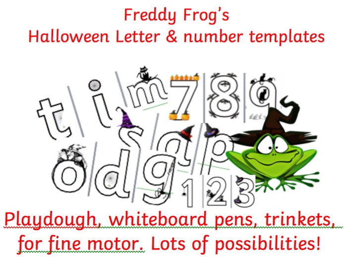 Halloween phonics and numbers. 1-10 &   Letters and sounds Phase 2 and initial sounds in Phase 3
