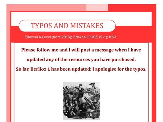 Typos and Mistakes - follow me for updates