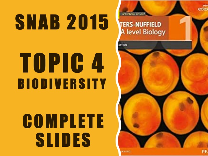 Biodiversity and natural resources (topic 4) slides for SNAB 2015