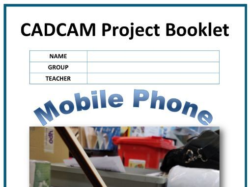 CADCAM Phone Stand Project Booklet