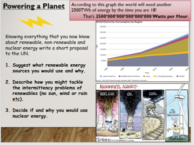 KS4 P3.4 Energy and the environment