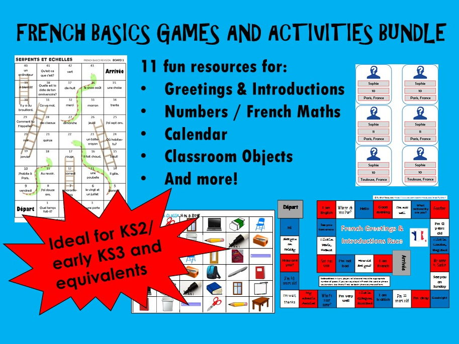 French  Basics Bundle (Games / Activities)