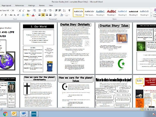 WJEC GCSE Full Unit 1 Revision Guide