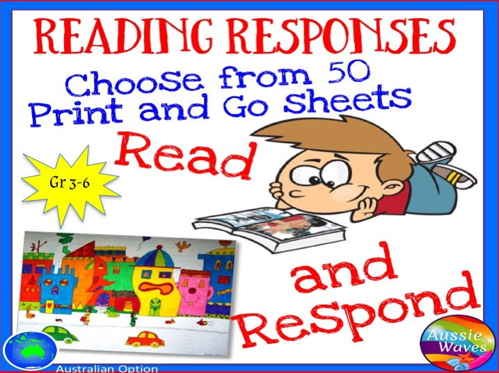 Reading Responses for all Books Independent Activities for Literacy Centres in Older Grades