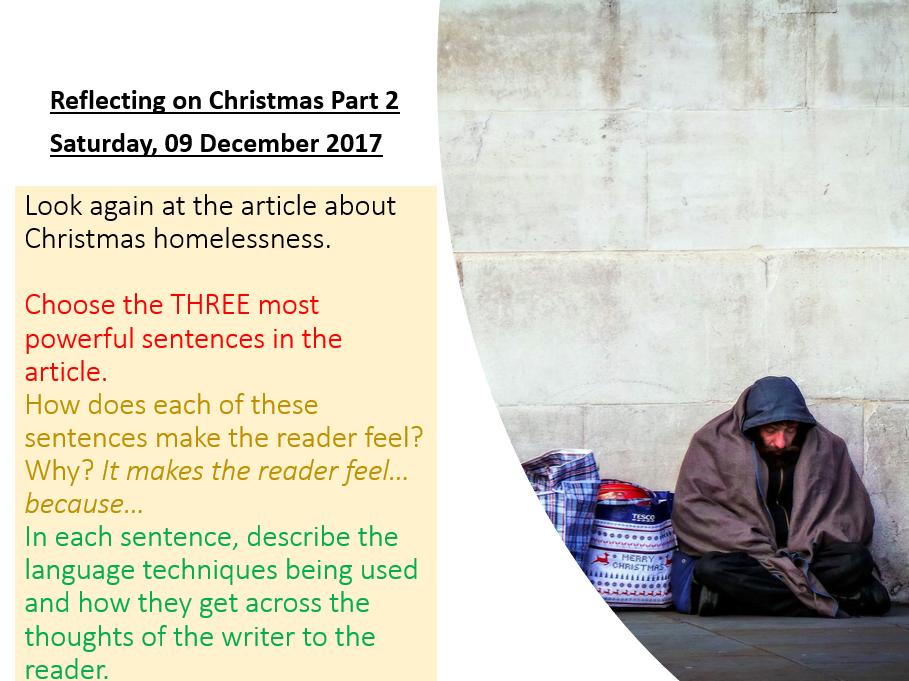 Christmas AQA English Language Paper 2 Lesson