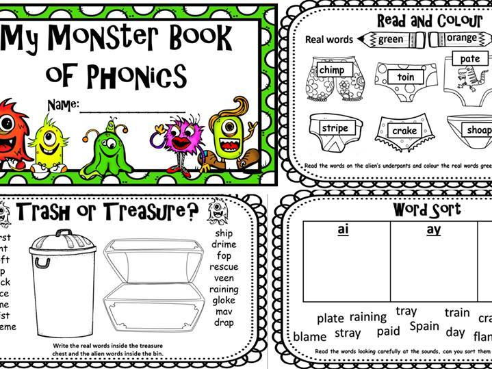 Phonics Screening Check 30 page Revision Workbook Phase 2-5