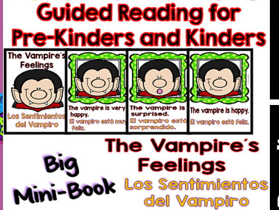 Guided Reading - The Vampire´s Feelings / Los Sentimientos del Vampiro - Dual