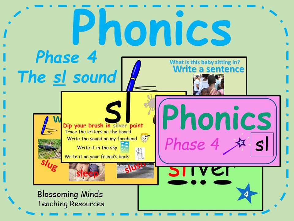 Phonics phase 4 - Consonant blends - The 'sl' sounds