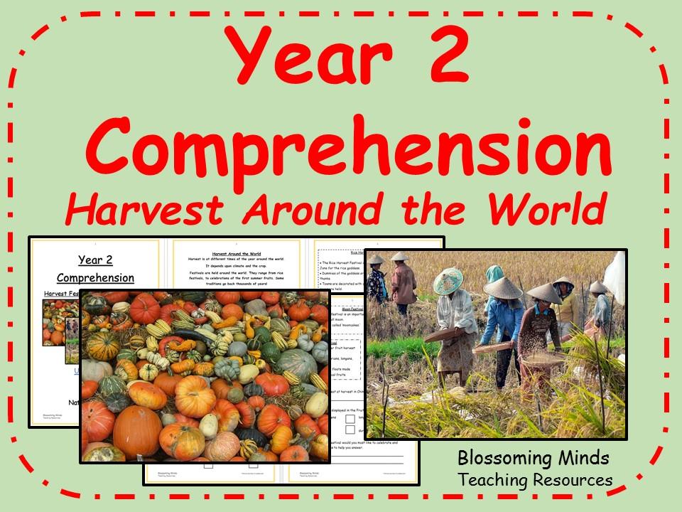 Year 2 comprehension - Harvest around the world