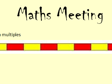 Maths Meeting PowerPoint Y4