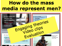 *FULL LESSON*  How do the Mass Media represent men? A-Level Sociology Lesson