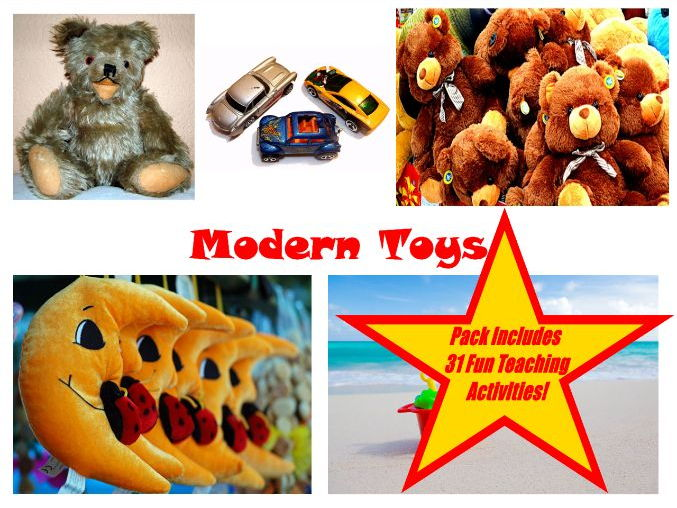 30 Photos of Modern Toys + 31 Teaching Ideas Teacher Guide For This Resource