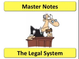 The Legal System Law Notes