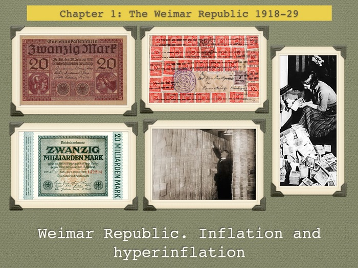GCSE History of Weimar Republic. Unit 1. Inflation and hyperinflation of 1923