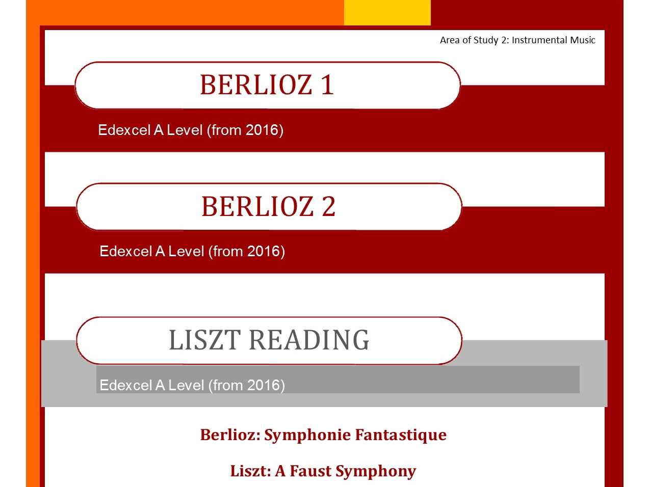 Edexcel Music A Level Bundle Berlioz 1, Berlioz 2 and Liszt Reading