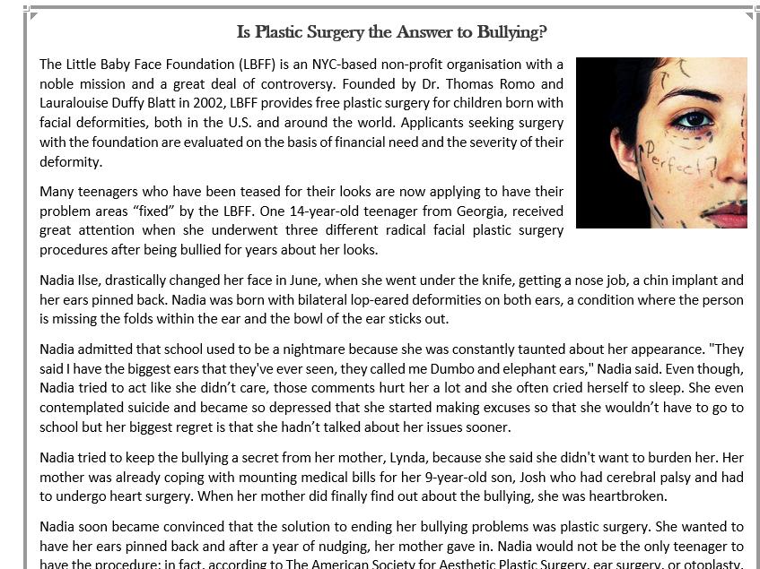 Facial procedures lesson plans