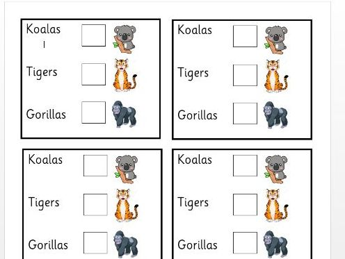 Class name voting cards