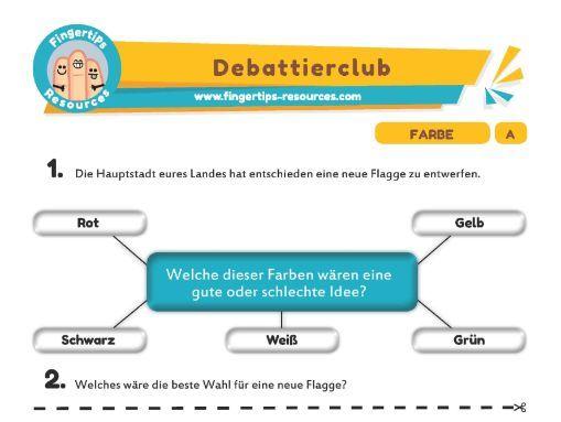 Farbe - Debates in German