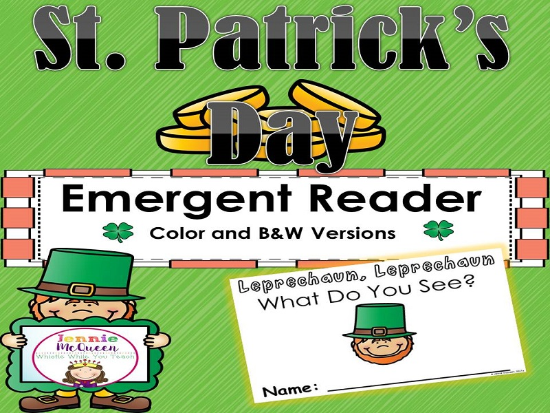 St Patrick Day Emergent Reader: Leprechaun, Leprechaun What Do You See?