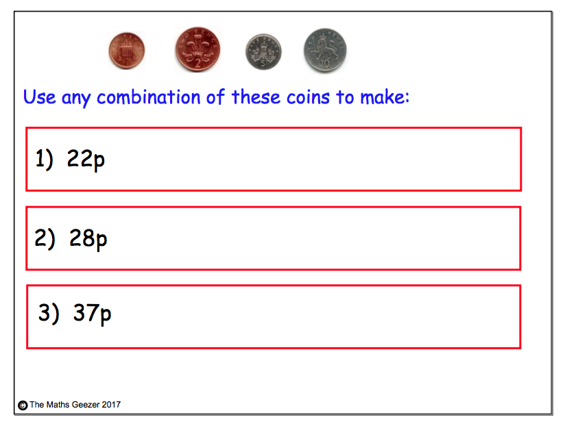 Money: Shopping & Change (£)