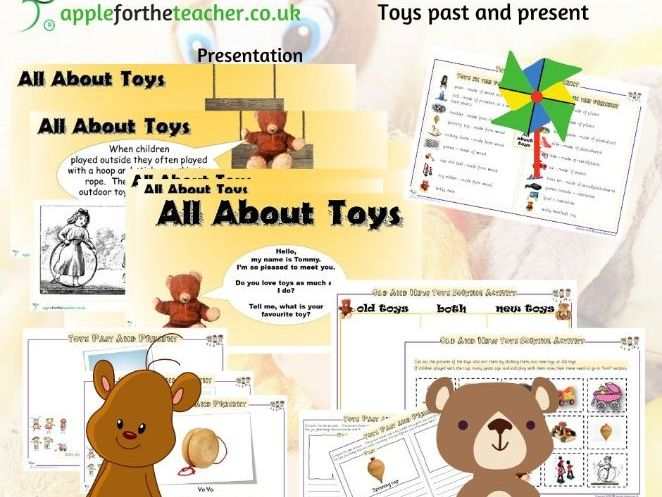 Toys Past and Present Year 1 History - All About Toys Presentation and Activity Pack