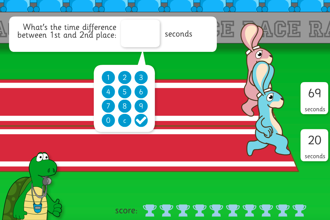 Hare Race Interactive Game - KS2 Measurement