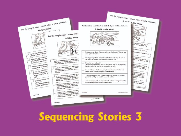 SEQUENCING STORIES BOOK 3