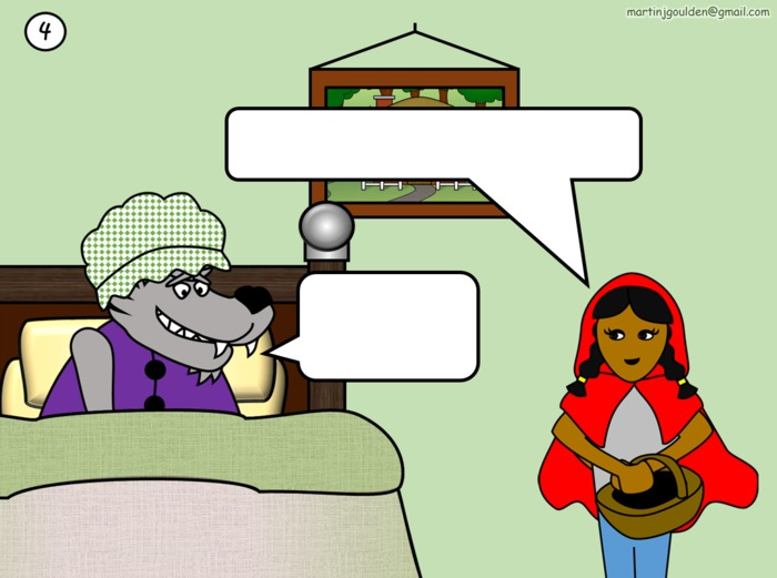 Little Red Riding Hood Speech Bubbles - Editable - Traditional Tales