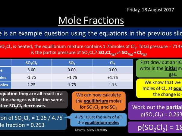 NEW AQA Yr2 Equilibrium Constant Kp Revision