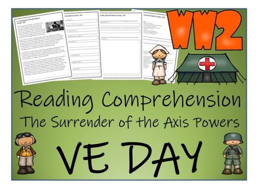 UKS2 History - VE Day Reading Comprehension Activity