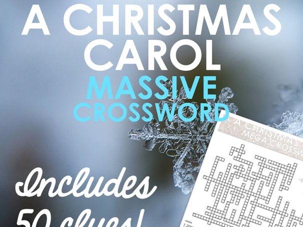 MASSIVE Christmas Carol Revision Crossword! 50 Clues!