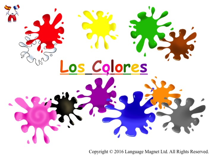Spanish Colours Pronunciation with Audio File and Activity Sheet