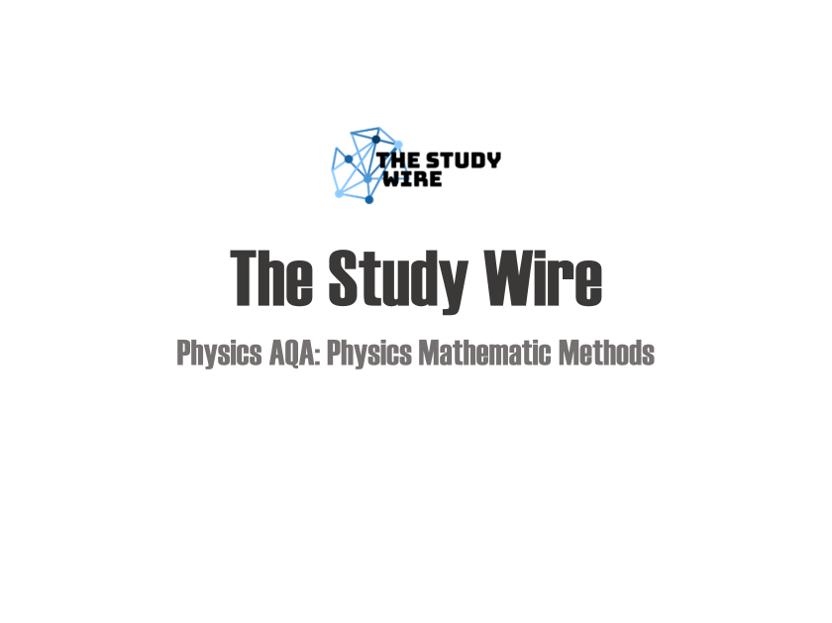 Physics placemats: Mathematical methods